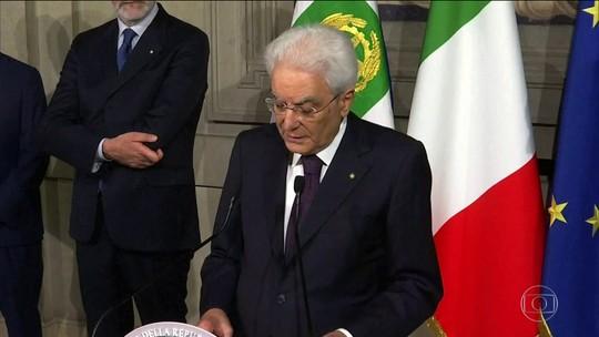 Presidente da Itália busca solução para crise após renúncia de primeiro-ministro