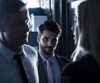Bruno Gagliasso entre Marcello Novaes e Luana Piovani, em cena de 'Dupla identidade' | Estevam Avellar/TV Globo