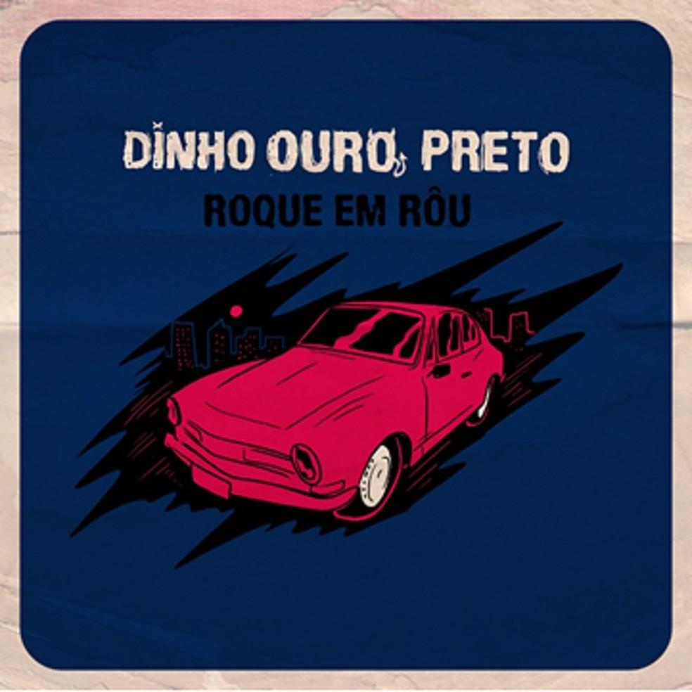 Capa de 'Roque em rôu', álbum solo de Dinho Ouro Preto — Foto: Divulgação