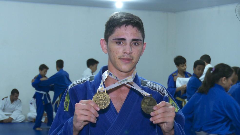 Judoca campeão na Surdolimpíadas do Brasil — Foto: Reprodução/Rede Amazônica
