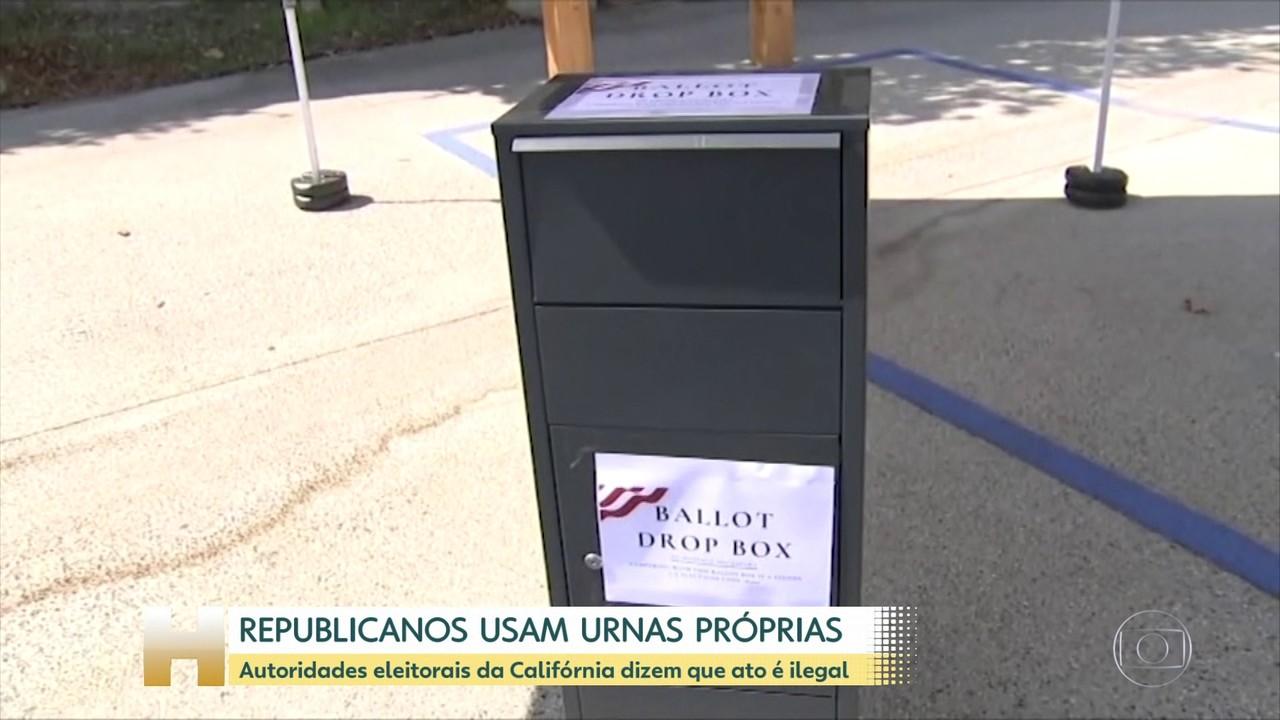 Partido Republicano dos EUA diz ter colocado urnas próprias para coletar votos antecipados