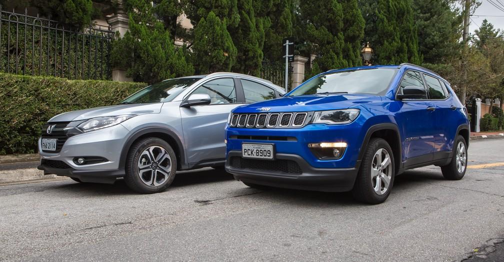 Jeep Compass e Honda HR-V disputam liderança do segmento de SUVs (Foto: Celso Tavares/G1)