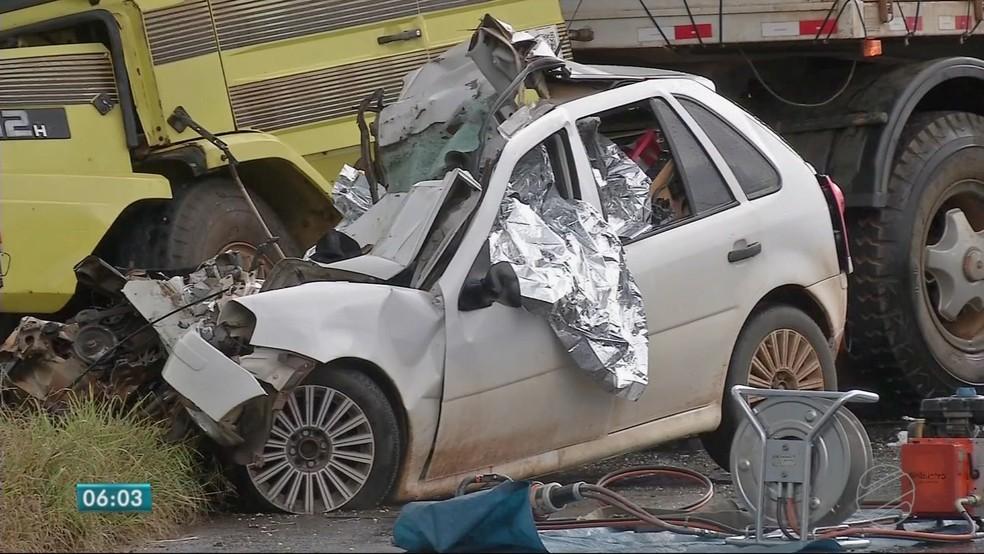 Acidente na MT-130, em Primavera do Leste, matou três pessoas (Foto: TV Centro América)
