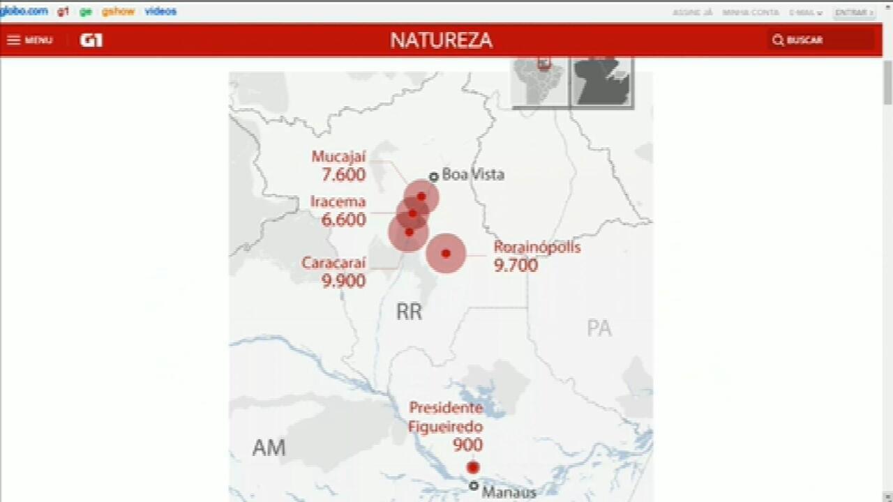 Citado por Bolsonaro, voo Manaus-Boa Vista passa por cidade de RR com mais focos de incêndio em 2020