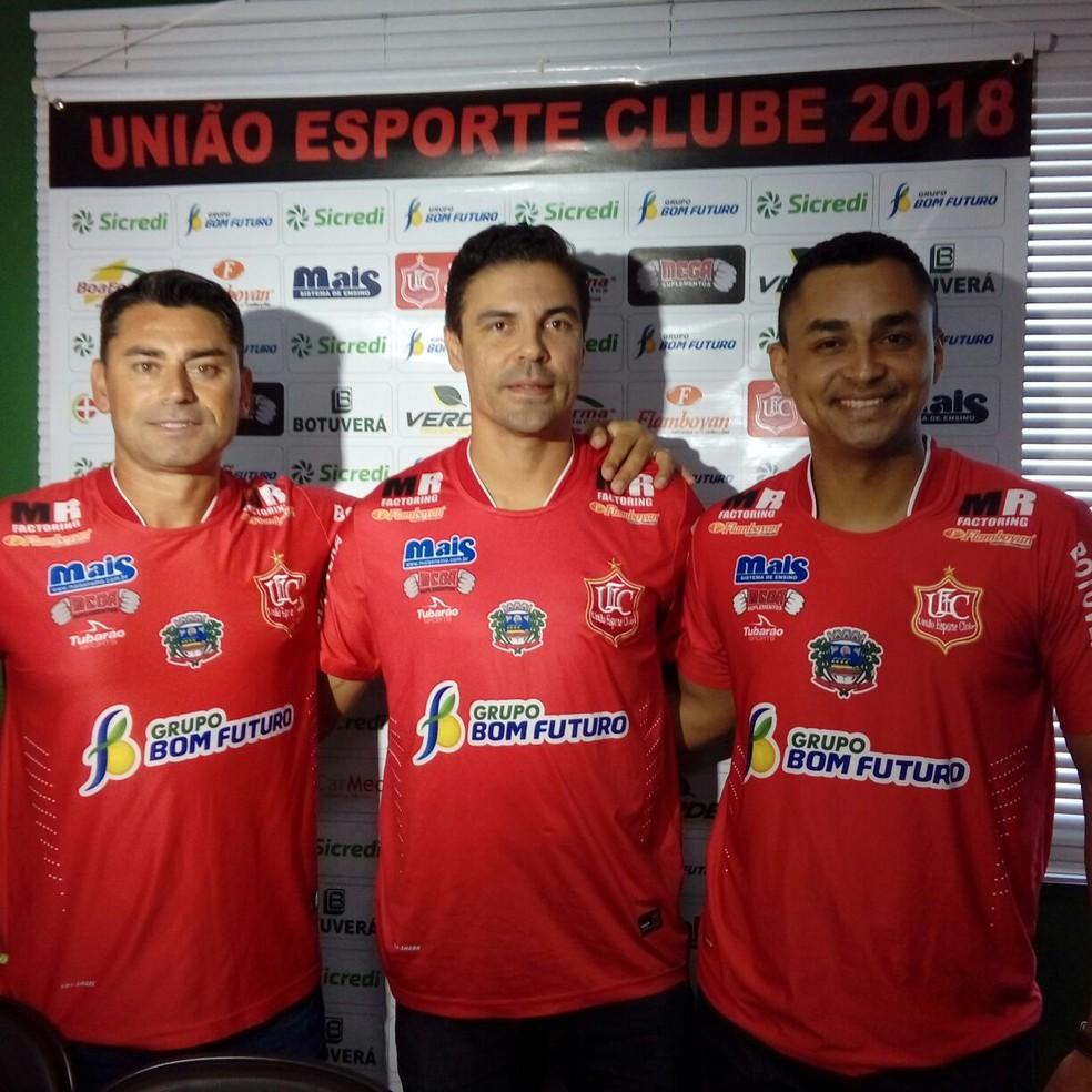 Comissão técnica União Esporte Clube (Foto: Israel Prates)