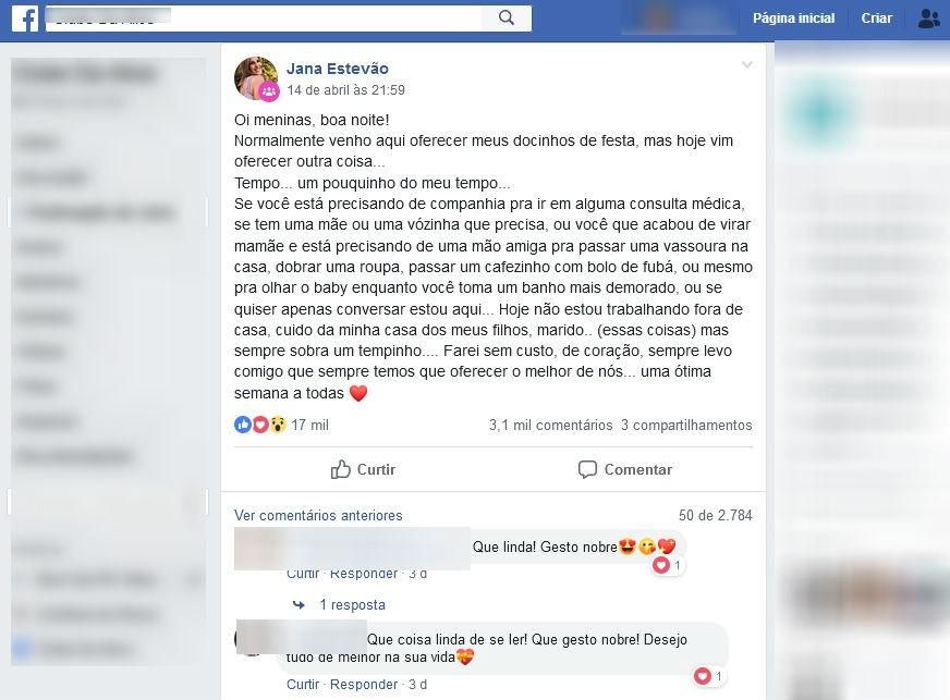 Curitibana desempregada oferece 'tempo' para ajudar pessoas, e post viraliza em rede social