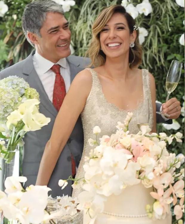 Bolo de casamento de William Bonner e Natasha Dantas (Foto: Instagram/ Reprodução)