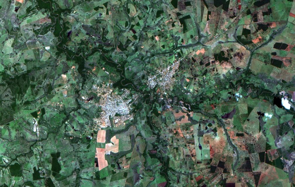 Imagens do CBERS-4A divulgadas pelo Inpe — Foto: Divulgação/Inpe