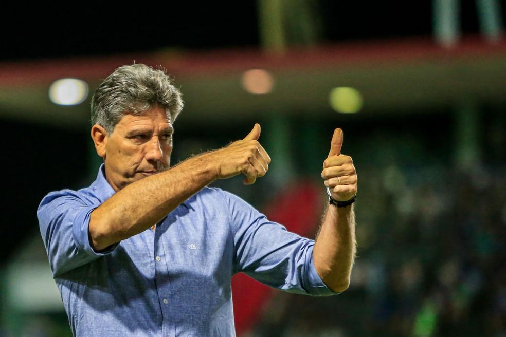 Renato Gaúcho, técnico do Grêmio — Foto: Ailton Cruz - Gazeta de Alagoas