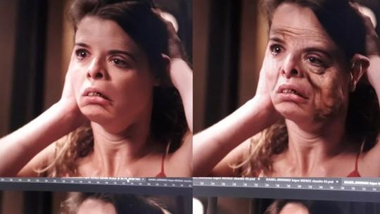 Veja como foi feita a transformação assustadora de Isabel em 'Espelho da Vida'