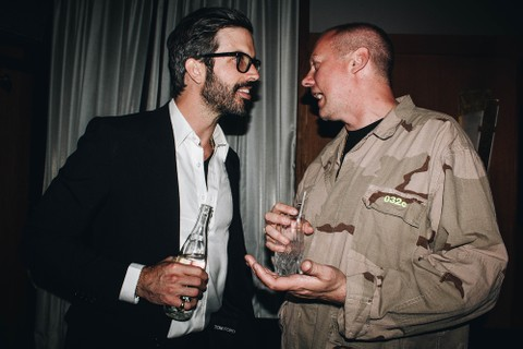 Will Welch, editor-chefe da GQ USA, e Joerg Koch, da 032c (Foto: Tyrell Hampton)