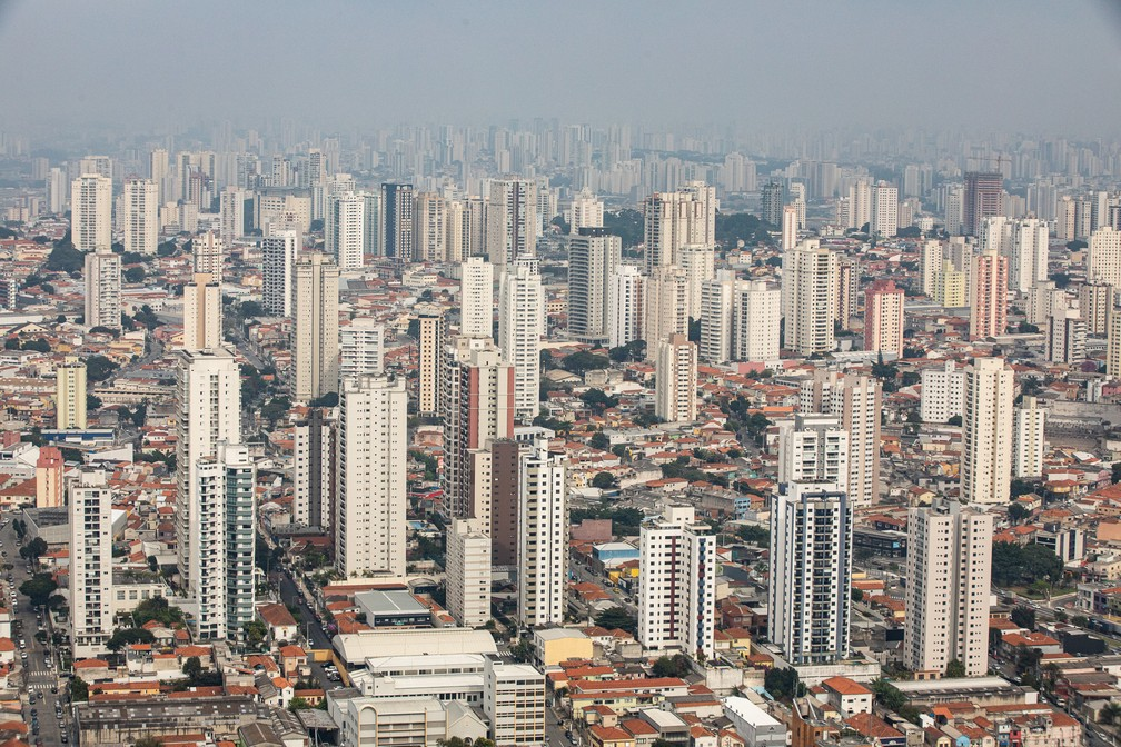 Bairro do Tatuapé, na Zona Leste da cidade, passa por intenso processo de verticalização desde os anos 2000 — Foto: Fábio Tito/G1