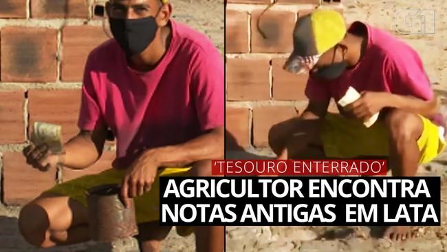 VÍDEO: Agricultor encontra dinheiro enterrado em assentamento rural na Paraíba