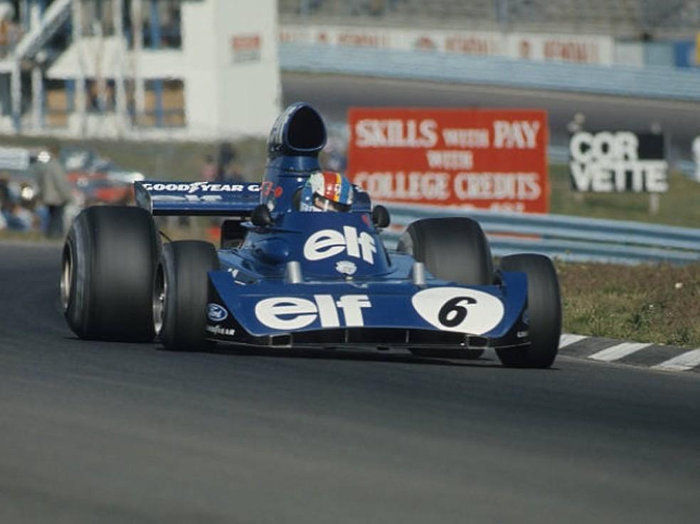 François Cevert momentos antes do acidente fatal em Watkins Glen — Foto: Getty Images