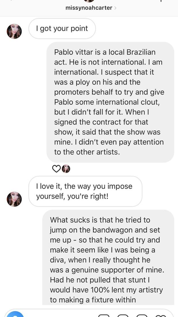 Azealia Banks fala sobre Pabllo Vittar em conversa no Instagram (Foto:  Reprodução / Instagram)