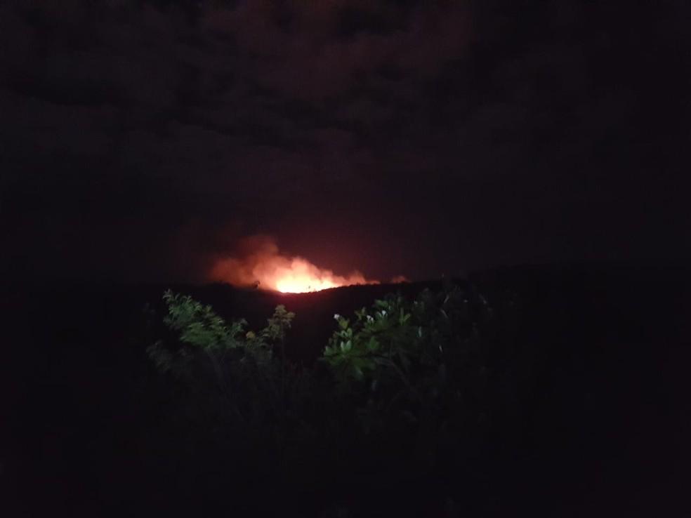 Técnicos do ICMBio recebem alerta de incêndio no Parque Nacional da Chapada Diamantina — Foto: Arquivo Pessoal