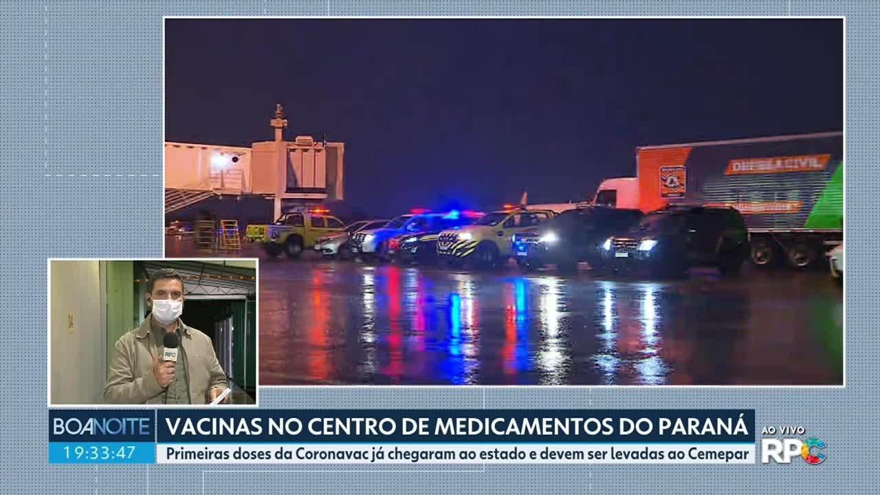 Doses da CoronaVac devem ser levadas ao Cemepar antes da distribuição aos municípios