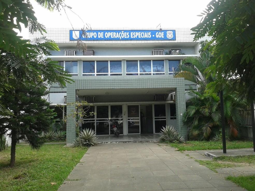 Sede do Grupo de Operações Especiais (GOE), no Recife  (Foto: Dyanne Melo/TV Globo)