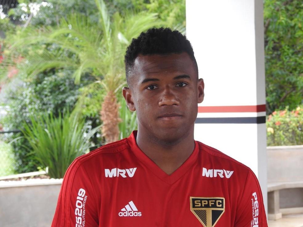 Luan, do São Paulo, é opção para Mancini contra o RB Brasil — Foto: Marcelo Hazan