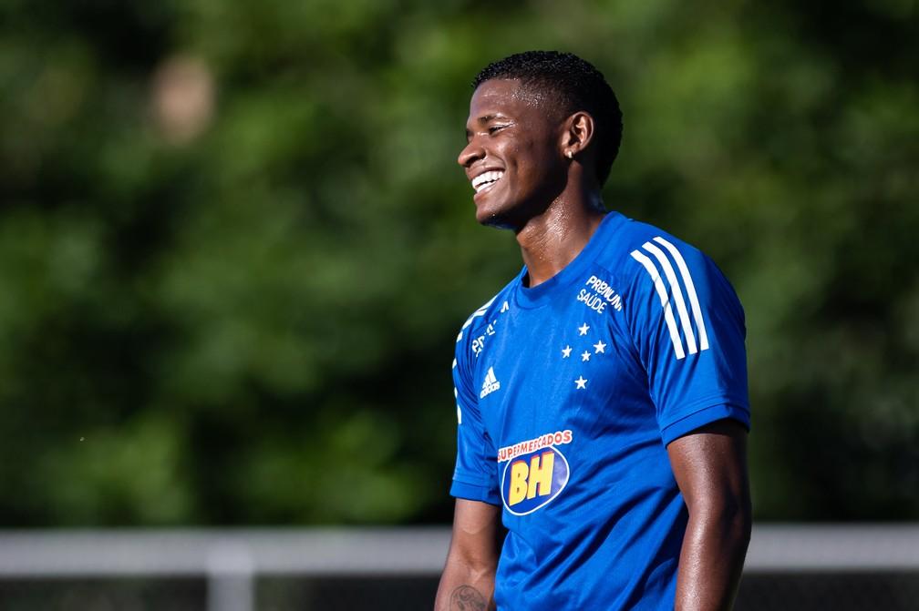 Orejuela, do Cruzeiro: São Paulo fez proposta pelo jogador em fevereiro — Foto: Bruno Haddad/Cruzeiro