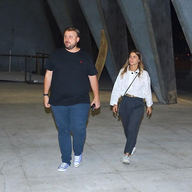 Carolina Dieckmann e Leo Fuchs (Foto: AgNews)