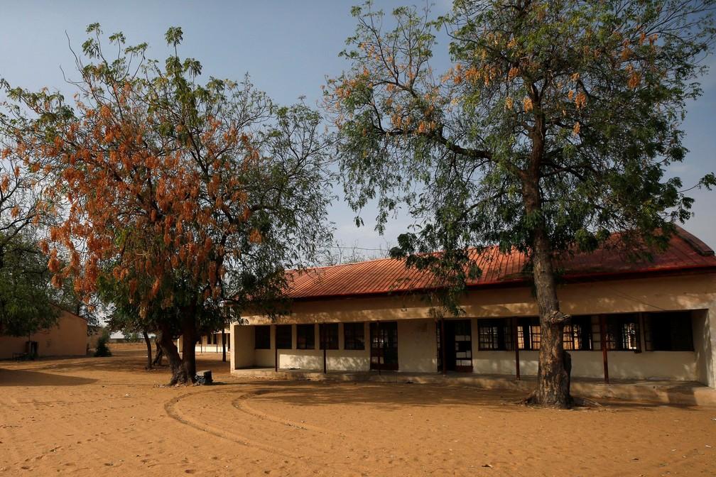 Foto divulgada nesta sexta-feira (23) mostra escola em Dapchi, onde estudantes desapareceram após ataque do Boko Haram (Foto: Afolabi Sotunde/Reuters)