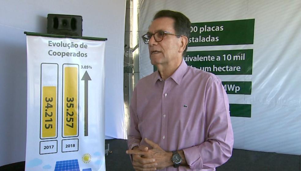 O presidente do conselho administrativo da Coopercitrus, José Vicente da Silva — Foto: Reprodução/EPTV