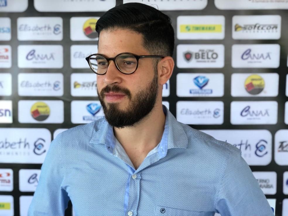 Francisco Sales está de volta ao cargo de diretor executivo do Botafogo-PB — Foto: Lucas Barros/GloboEsporte.com