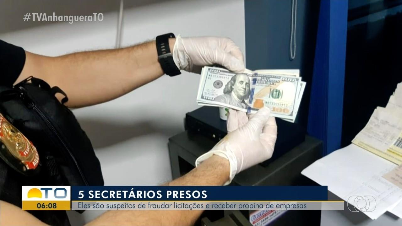 PF prende 5 secretários no TO suspeitos de fraudar licitações e receber propina