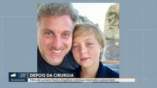 Filho de Luciano Huck e Angélica continua internado e passa bem