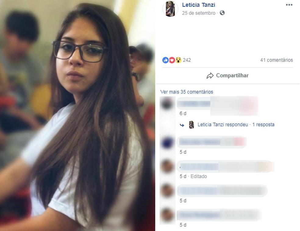 Garota tinha 13 anos e morava em São Roque �- Foto: Facebook/Reprodução