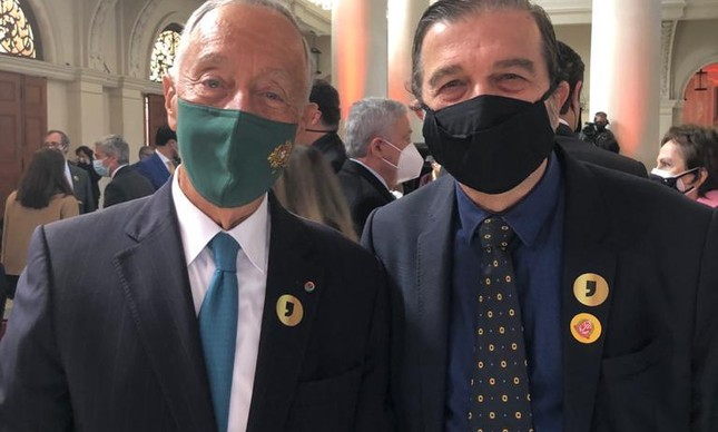 Marcelo Rebelo de Sousa e Hugo Barreto, curador do Museu da Língua Portuguesa