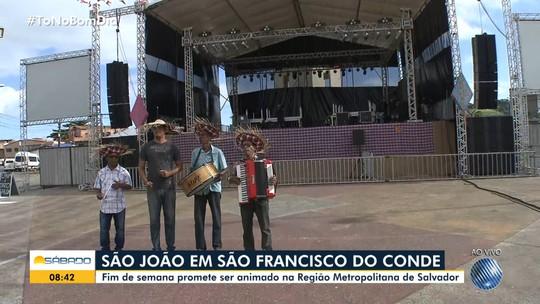 Veja os shows deste sábado de São João em São Francisco do Conde, Camaçari e Amargosa