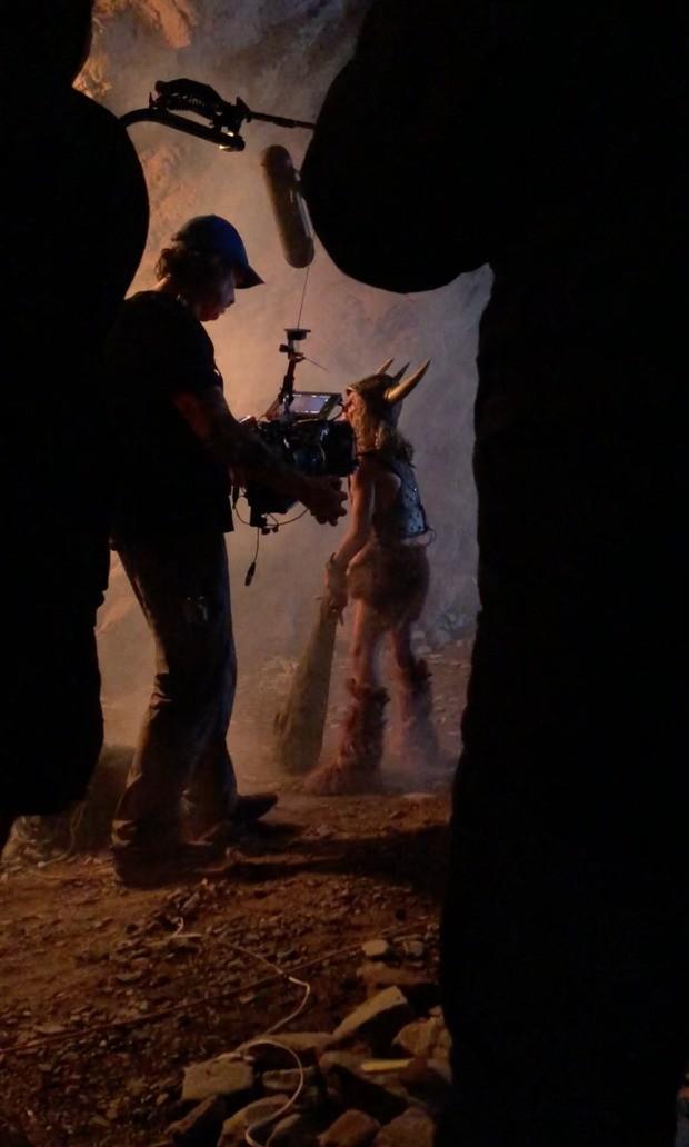 Supostas imagens de filmagens de Caverna do Dragão (Foto: Divulgação/Marvel Productions)