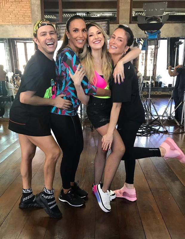 Justin Neto, Ivete Sangalo, Dani Calabresa e Claudia Leitte (Foto: Reprodução/Instagram)