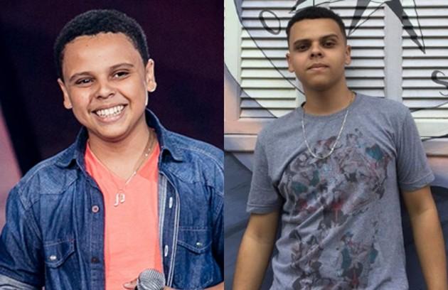 Ryandro Campos seguiu até a semifinal do reality. À época, ele tinha 13 anos (Foto: TV Globo e reprodução)