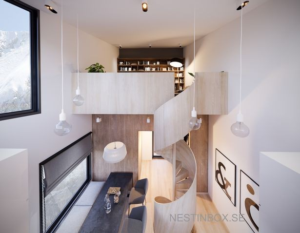 Interior de uma residência do projeto Nestinbox