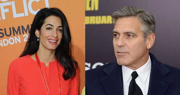 Amal Alamuddin e George Clooney (Foto: Getty Images)