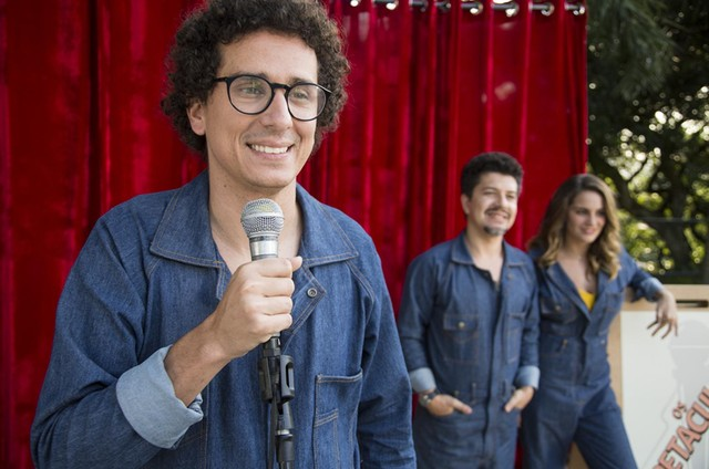 Rafael Portugal, Paulo Mathias Jr e Luísa Périssé em 'Os espetaculares' (Foto: Divulgação)