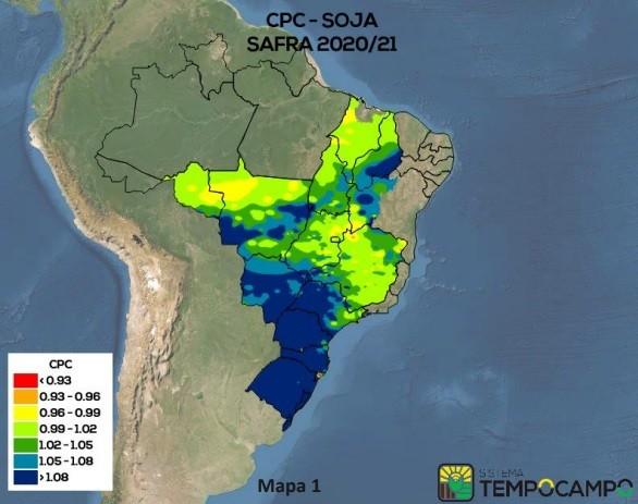 Mapa soja sistema Tempocampo (Foto: Reprodução)