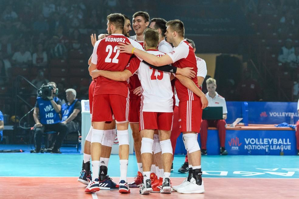 Seleção masculina de vôlei da Polônia retorna os treinamentos em Junho — Foto: FIVB