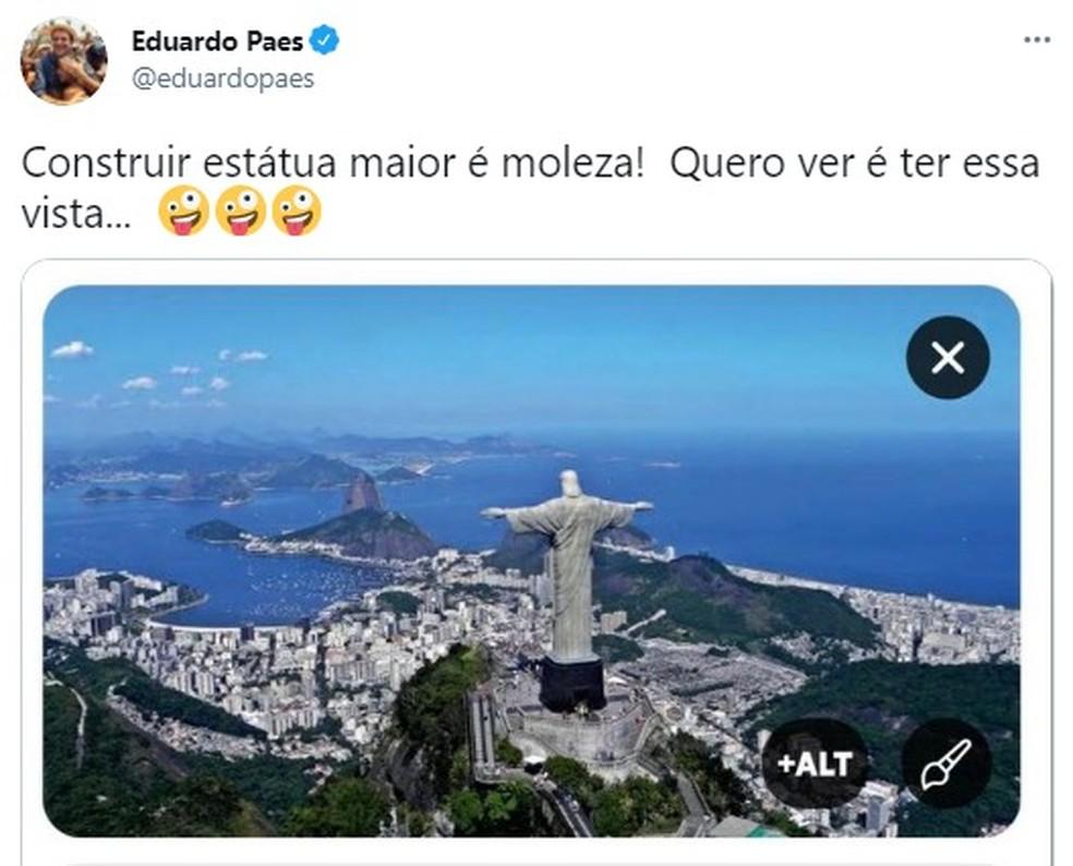 Prefeito de Encantando reage à provocação de Eduardo Paes sobre tamanho de estátua de Cristo | Repórter Farroupilha | G1