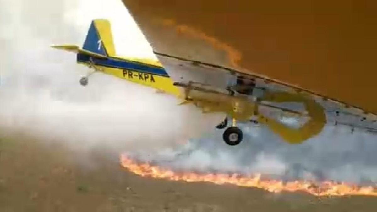 Combate ao fogo na Chapada dos Veadeiros, em Goiás, completa uma semana