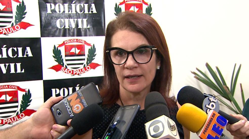 A delegada Luciana Renesto, titular da Delegacia de Defesa da Mulher em Ribeirão Preto, SP — Foto: Reprodução/EPTV
