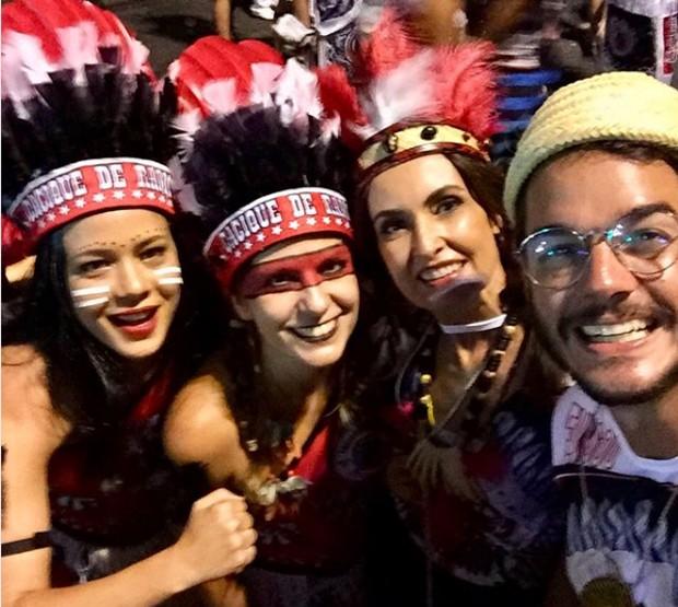 Leandra Leal, Georgiana Góes, Fátima Bernardes e Tulio Gadelha  (Foto: reprodução / Instagram)