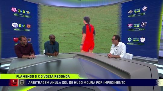 Loffredo elogia atitude de jogador do Flamengo em minimizar erro da arbitragem em gol mal anulado