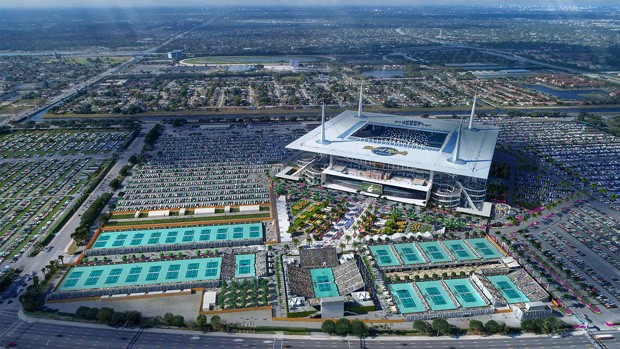 Hard Rock Café Stadium pronto para o Miami Open
