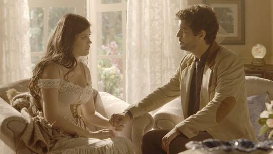 Maria Vitória e Inácio: no último capítulo, protagonistas confirmam o amor que sempre existirá entre eles
