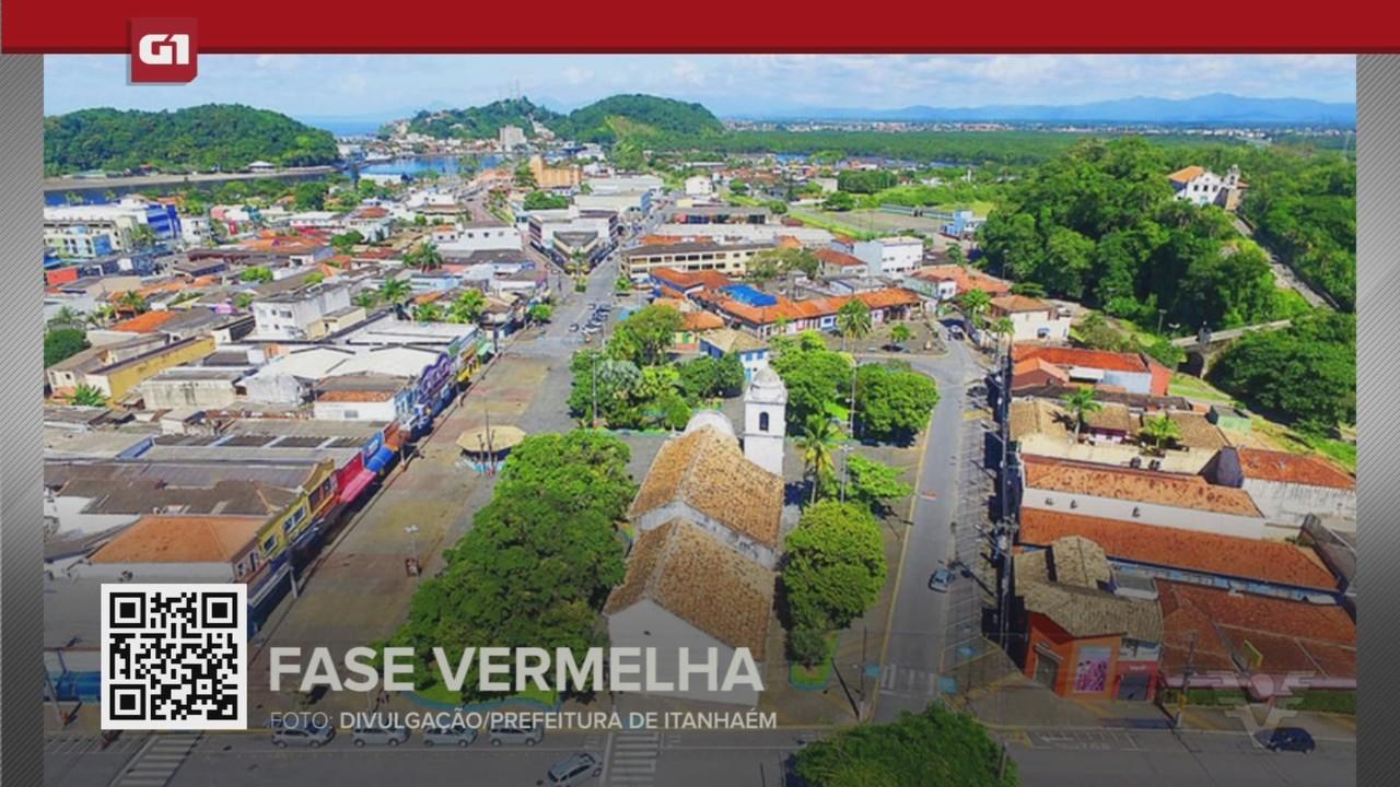 G1 em 1 Minuto - Santos: Fase vermelha do Plano SP começa a valer na Baixada Santista