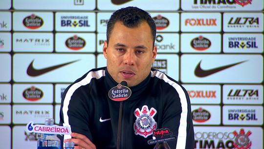 """Jair Ventura vê Corinthians em evolução: """"Equipe organizada, que sofre menos e cria mais"""""""